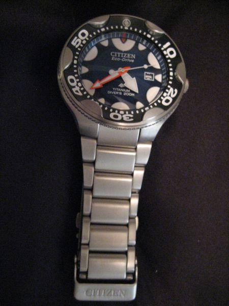 Citizen orca dive watch w titanium bracelet watch freeks - Citizen titanium dive watch ...