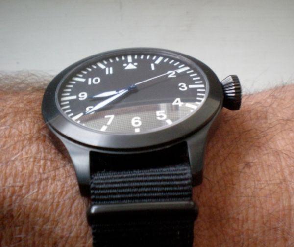 ticino b 39 uhren automatic pvd flieger watch freeks. Black Bedroom Furniture Sets. Home Design Ideas