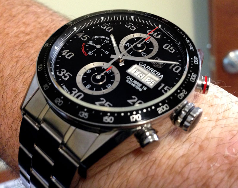 328936f42e53 Just Arrived - Tag Heuer Carrera Calibre 16 Day Date Automatic Chronograph  - Watch Freeks